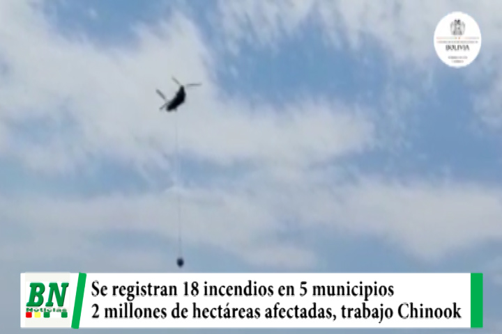 Lee más sobre el artículo Se mantienen 18 incendios en 5 municipios y 2 millones de hectáreas afectadas, Helicóptero Chinook descargó 243 veces