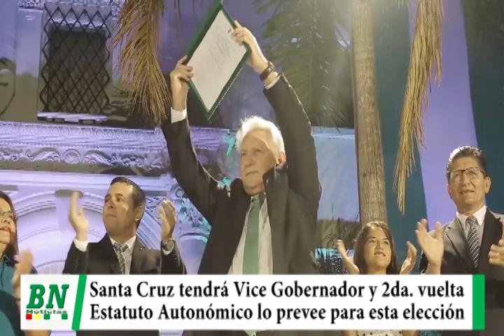 Lee más sobre el artículo Estatuto Autonómico prevé elección de Vice Gobernador y segunda vuelta electoral