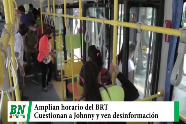 Lee más sobre el artículo Municipio amplía horario de atención del BRT y cuestionan a Johnny Fernandez y ven desinformación