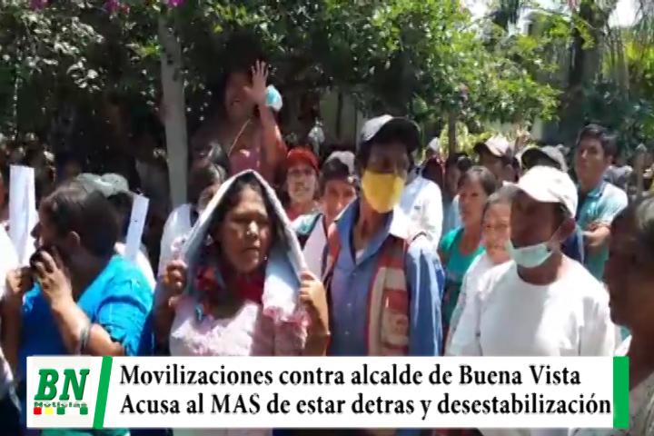 Lee más sobre el artículo Alcalde de Buena Vista acusa al MAS de movilizaciones y bloqueos y de buscar desestabilizar su gestión