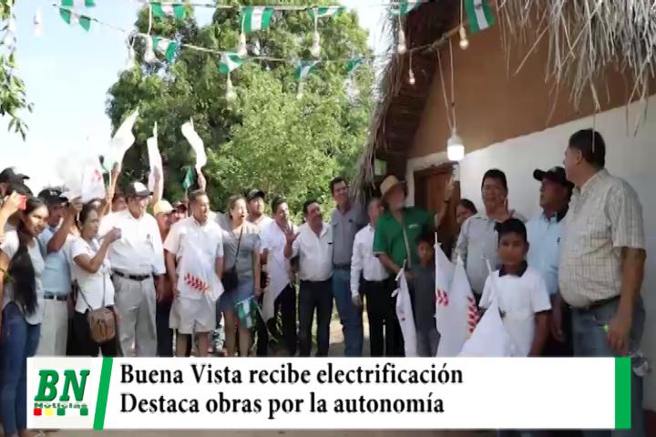 Lee más sobre el artículo Costas entrega electrificación a Buena Vista y destaca que obras llegan a provincias por autonomía