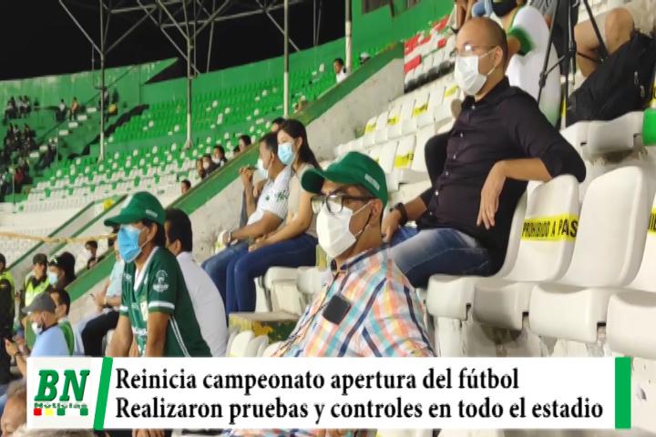Lee más sobre el artículo Reinicia el fútbol profesional y realizan pruebas y controles de bioseguridad