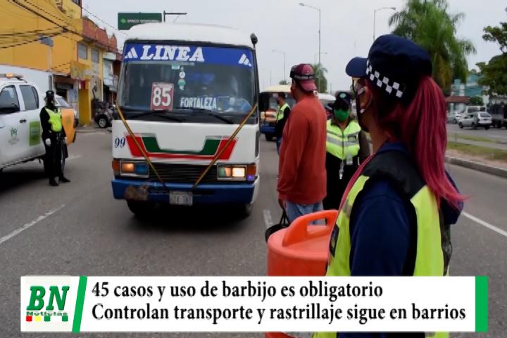 Lee más sobre el artículo Alerta coronavirus, 45 casos y uso de barbijo es obligatorio, controlan a transportistas y rastrillaje sigue