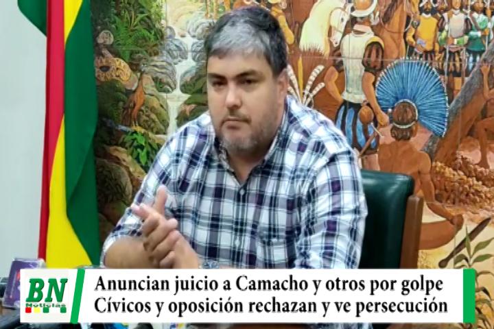 Lee más sobre el artículo Anuncian juicio a Camacho por golpe de estado y Cívicos con opositores rechazan y ven persecución