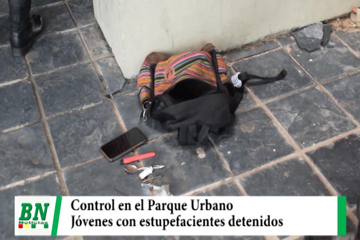 Lee más sobre el artículo Realizan control en el Parque Urbano y detienen a dos jóvenes por uso de estupefacientes