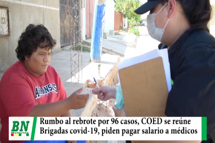 Lee más sobre el artículo Alerta coronavirus, 96 casos y Sedes ve rumbo a rebrote, COED se reúne el jueves y brigadas a los barrios, piden pagar salarios