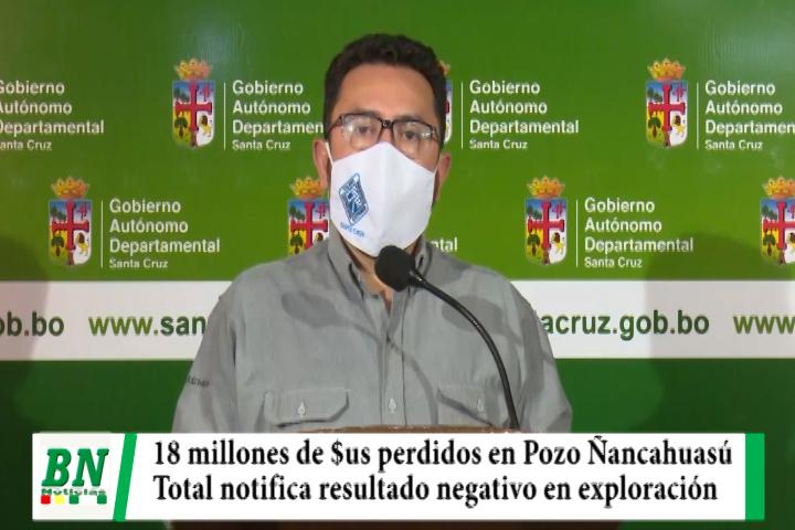 Lee más sobre el artículo Gobernación lamenta pérdida tras informe negativo en exploración de Pozo Ñancahuasú
