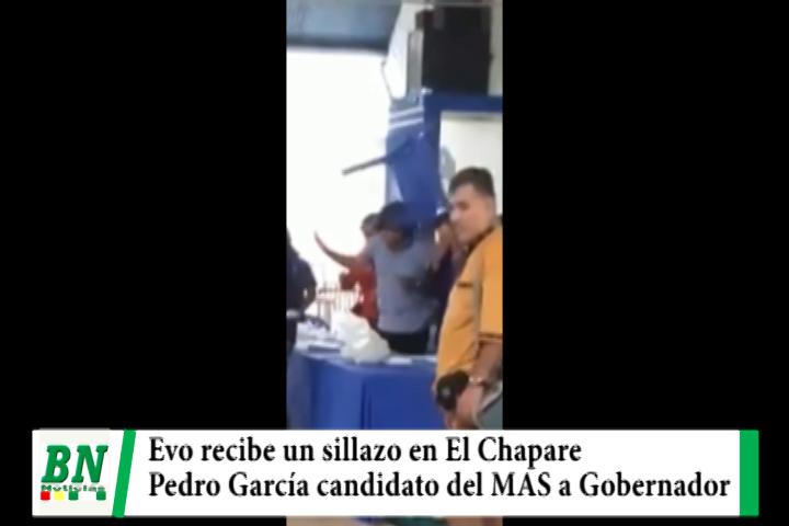 Lee más sobre el artículo Evo recibe sillazo en El Chapare mientras Pedro Garcia es elegido candidato a Gobernador por el MAS