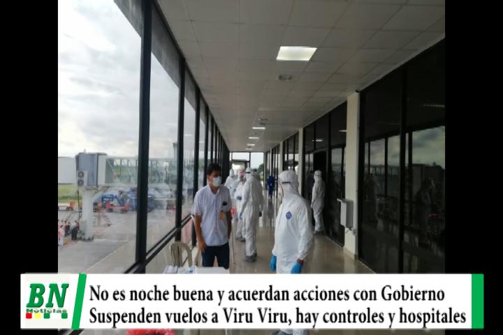 Lee más sobre el artículo Alerta coronavirus, no ven noche buena, acuerdan acciones y cierran vuelos europeos a Viru Viru, cierran locales y verifican hospital