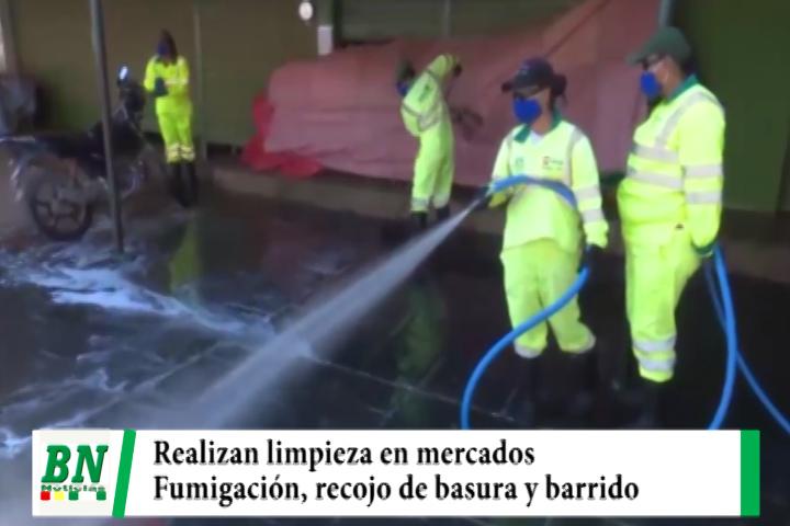 Lee más sobre el artículo Emacruz realizó limpieza, fumigación, lavado de mercados y recojo de basura en navidad