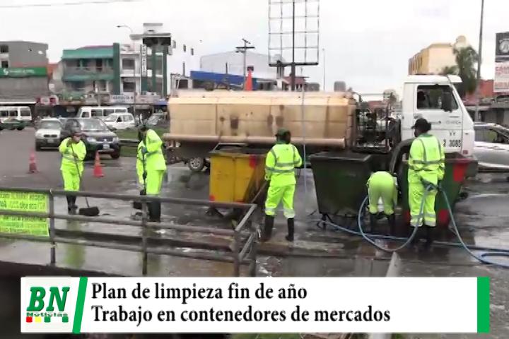 Lee más sobre el artículo Municipio realiza limpieza en los contenedores de los mercados en su plan fin de año
