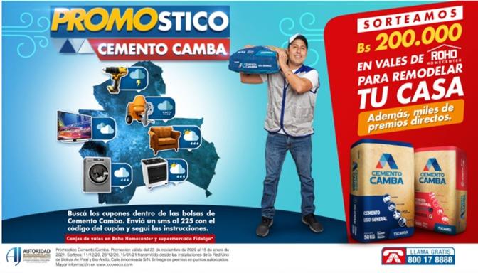 Lee más sobre el artículo Cemento Camba apoya a sus clientes con más de 200 mil bolivianos en vales de consumo.