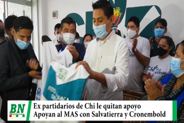 Lee más sobre el artículo Campaña MAS 2021, Ex partidarios de Chi harán campaña por Salvatierra y Cronembold