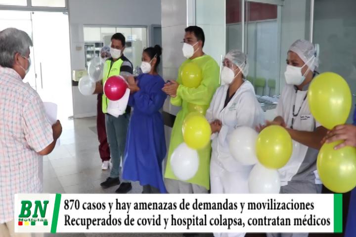 Lee más sobre el artículo Alerta coronavirus, 870 casos y amenazan con demandas y movilizaciones, gestiona vacunas y 7 pacientes con alta, hospital colapsa