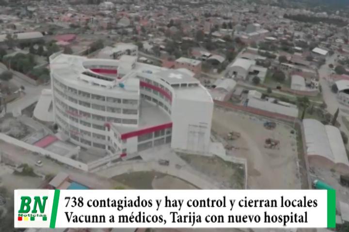 Lee más sobre el artículo Alerta coronavirus, 738 contagios y cierran locales, vacunan a personal médico y Tarija con nuevo hospital