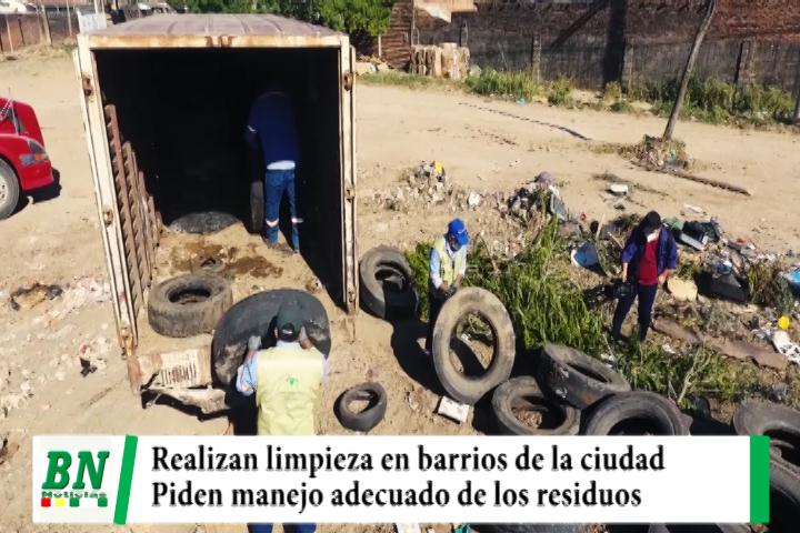 Lee más sobre el artículo Emacruz realiza limpieza en los barrios y advierte con sanciones, pide manejo adecuado de residuos