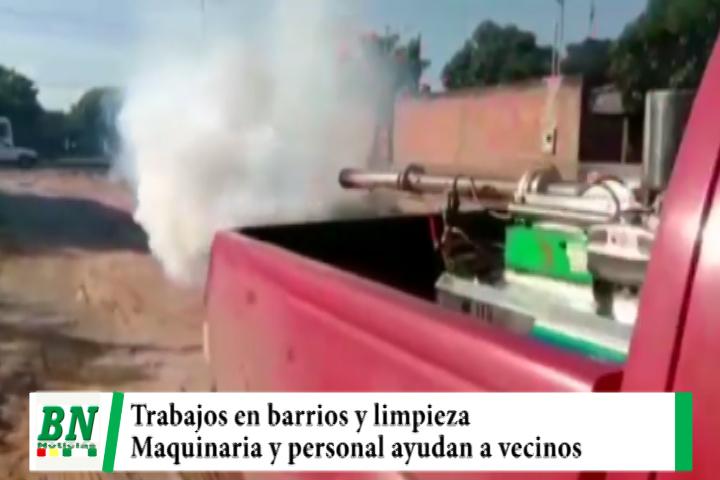 Lee más sobre el artículo Maquinaria y personal realizaron limpieza y fumigación en La Pampa de la Isla, cambiaron luminarias