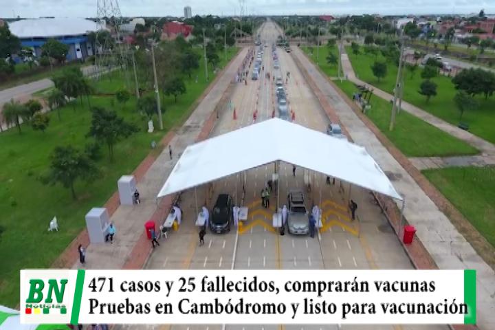 Lee más sobre el artículo Alerta coronavirus, 471 y 25 fallecidos, comprarán 100 mil vacunas, Cambódromo toman pruebas gratis y alistan vacunación