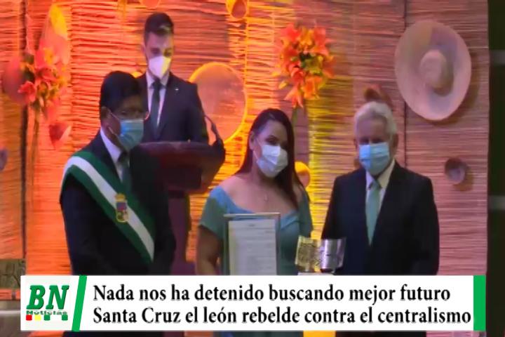 Lee más sobre el artículo Sesión de Honor ALD, Costas: Santa Cruz nada la ha detenido buscando un mejor futuro y es el león rebelde contra el centralismo