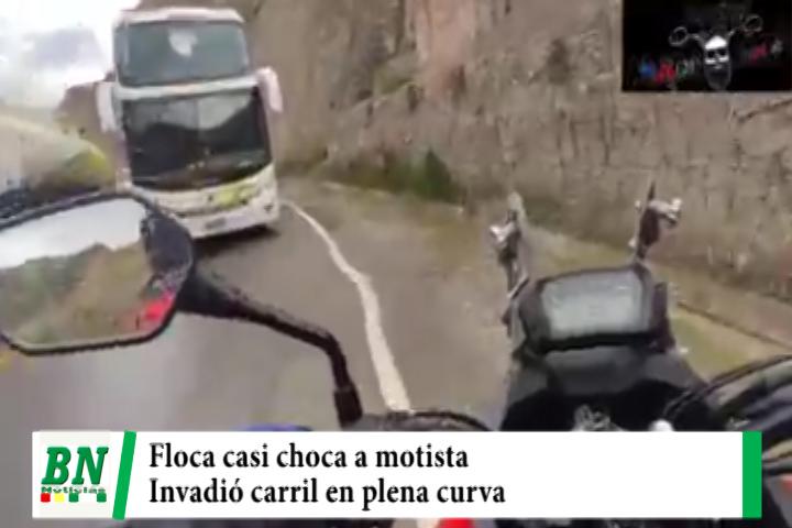 Lee más sobre el artículo Motociclista denuncia que flota casi lo choca al invadir su carril en plena curva