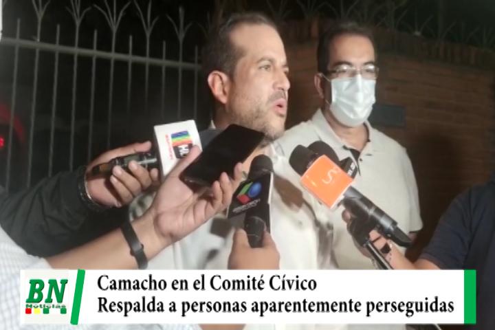 Lee más sobre el artículo Luis Fernando Camacho visita el Comité Pro Santa Cruz y respalda a personas perseguidas