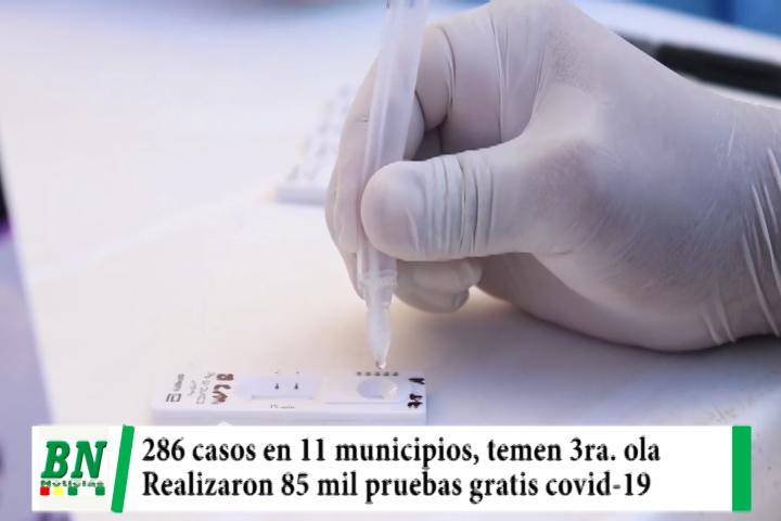 Lee más sobre el artículo Alerta coronavirus, 286 contagios en 11 municipios y temen tercera ola, 85 mil pruebas gratuitas