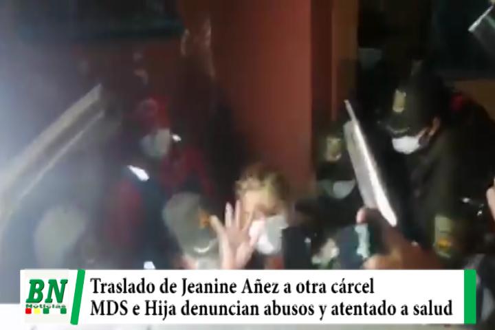 Lee más sobre el artículo Añez trasladada a Cárcel de Miraflores en lugar de clínica y MDS y su hija denuncian abuso y atentado