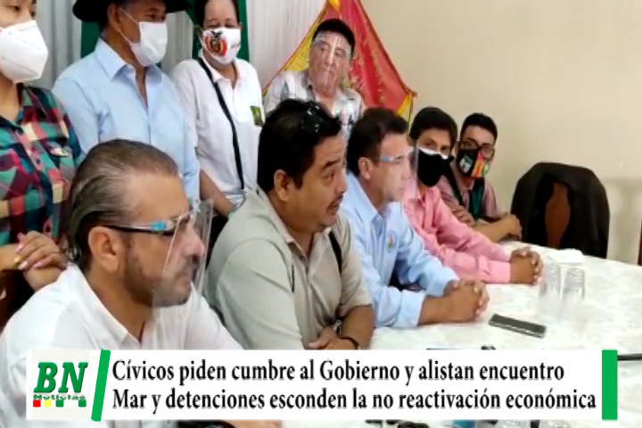Lee más sobre el artículo Cívicos piden cumbre al gobierno y alistan encuentro con políticos, Mar y juicios es falta de reactivación y lucha covid-19