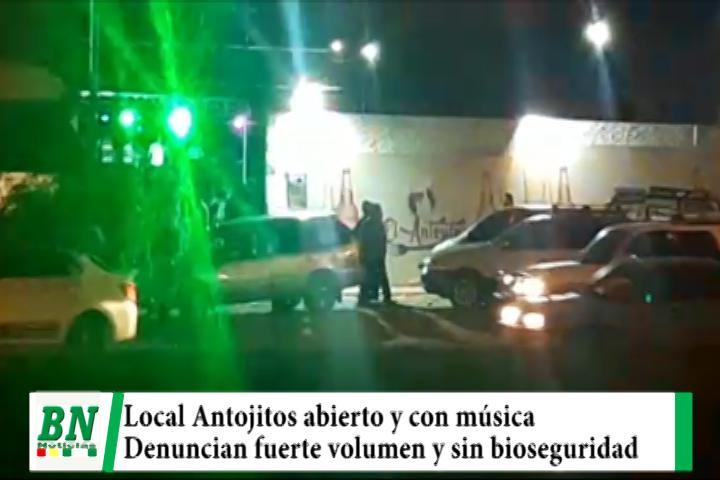 Lee más sobre el artículo Denuncian que local Antojitos abre desde temprano y con fuerte música y sin bioseguridad