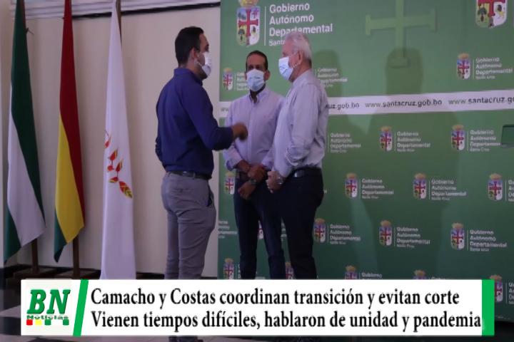 Lee más sobre el artículo Camacho y Costas coordinan transición y continuidad a gestión, vienen tiempos difíciles y van por unidad