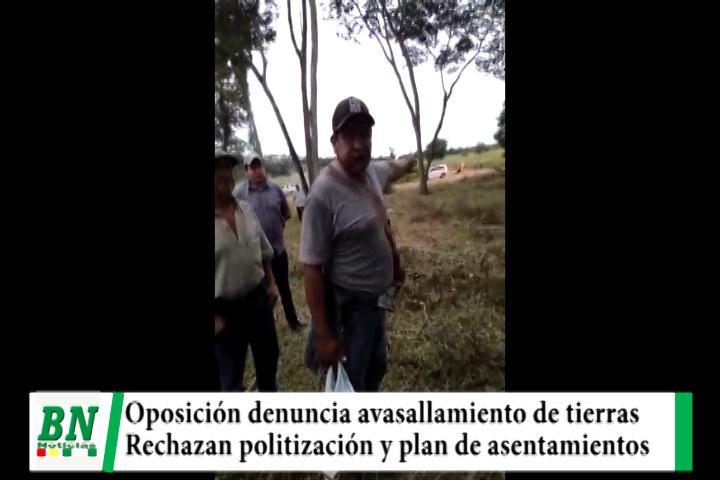 Lee más sobre el artículo Oposición denuncia avasallamiento de tierras y rechazan plan del Gobierno de asentamientos en La Chiquitania