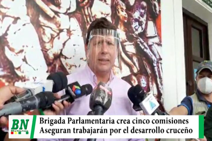 Lee más sobre el artículo Crean cinco comisiones en la Brigada Parlamentaria Cruceña y trabajarán por Santa Cruz, Gutierrez pide llevar su toco