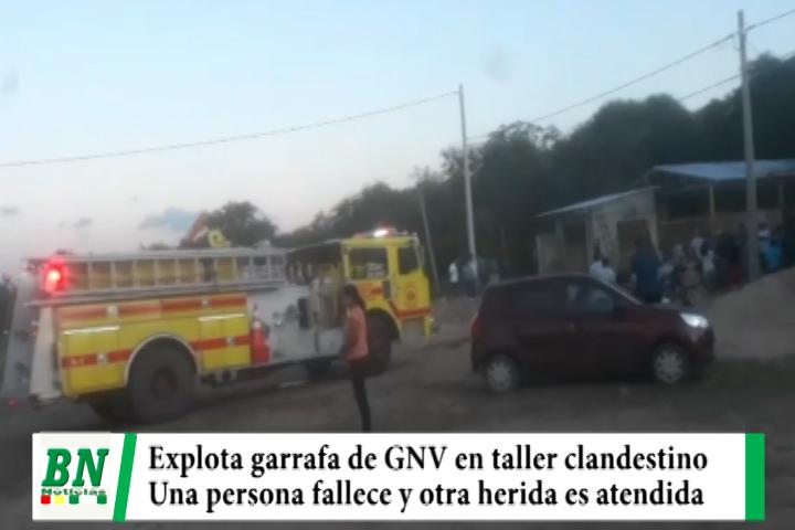 Lee más sobre el artículo Garrafa de GNV explota y una persona fallece mientras otra queda herida es atendida en centro médico