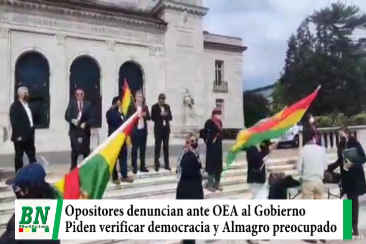 Lee más sobre el artículo Comisión de oposición denuncian ante OEA  violación a DDHH en Bolivia y aseguran que Almagro mostró preocupación