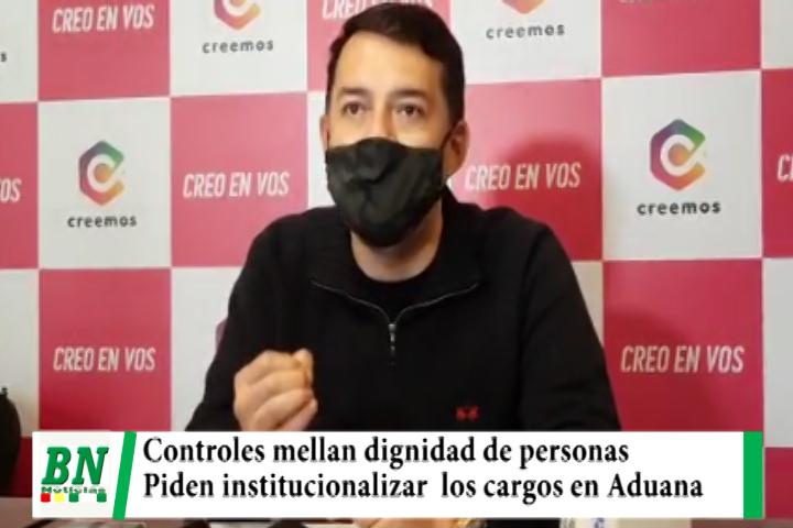 Lee más sobre el artículo Creemos pide institucionalizar cargos en Aduana para acabar con los controles que mellan dignidad de las personas