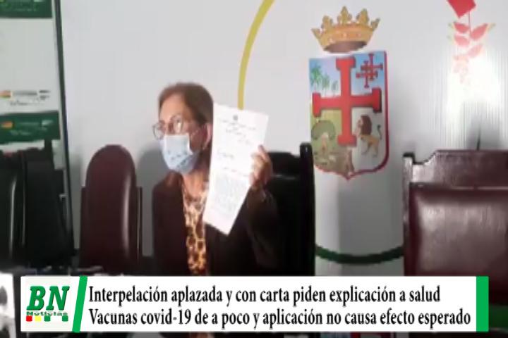 Lee más sobre el artículo Interpelación a Ministro de Salud es aplazada y Senadora Rek pide explicación con carta, llegan pocas vacunas y gobierno entretiene