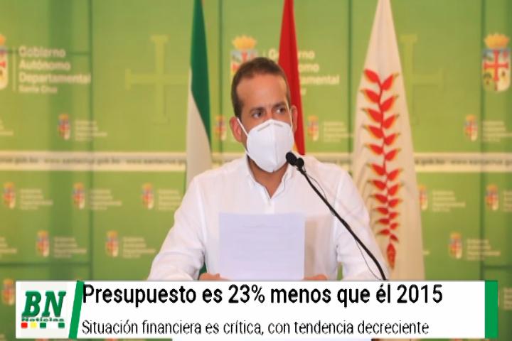 Lee más sobre el artículo Presupuesto de la Gobernación en crisis por rebaja en recaudaciones y ser 23% menos del 2015