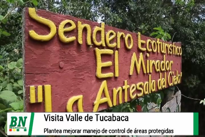 Lee más sobre el artículo Camacho visita el Valle de Tucabaca y plante mejorar el manejo de control de las áreas protegidas