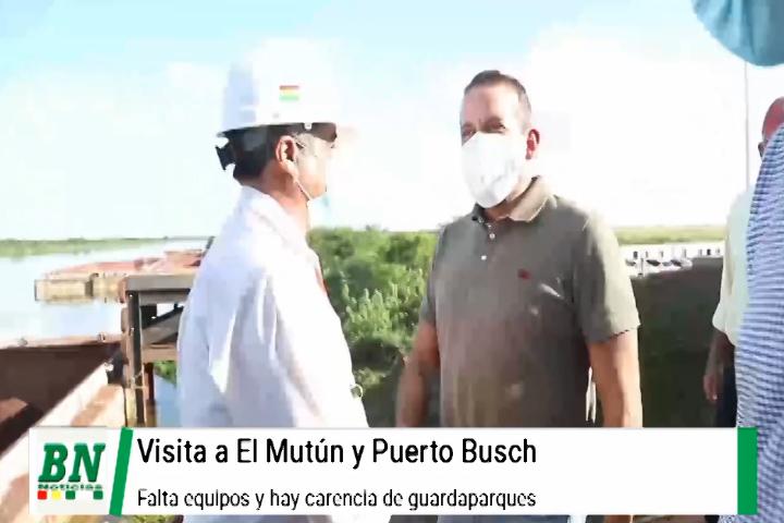 Lee más sobre el artículo Camacho evidenció carencias de equipos en El Mutún y Puerto Busch, ALD aprobará leyes para funcionamiento de proyectos