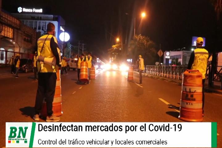 Lee más sobre el artículo Mantienen medidas contra el covid-19 y desinfectan los mercados, controlan transporte y locales comerciales