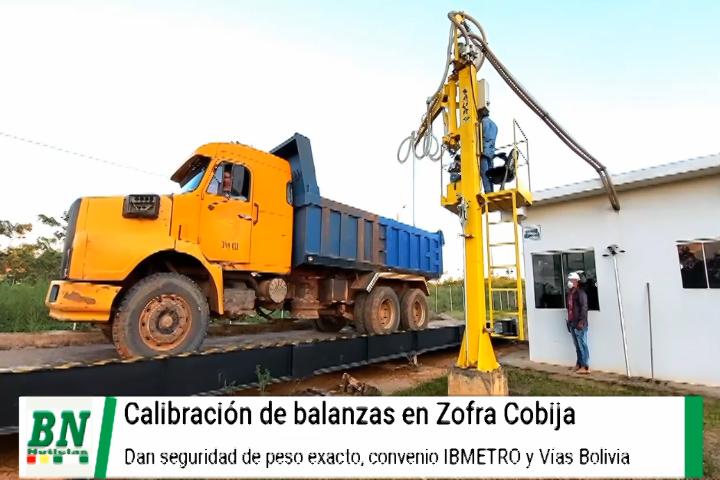 Lee más sobre el artículo Calibran las balanzas en Sofri Cobija y garantizan el peso exacto de la carga