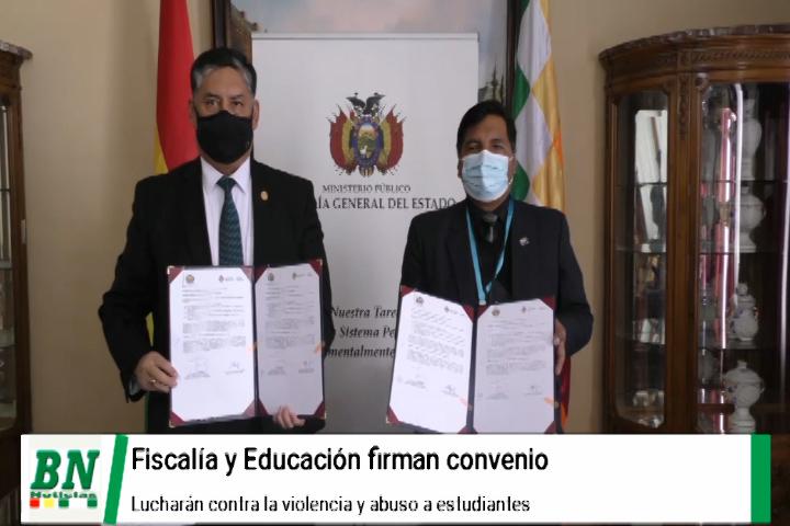 Lee más sobre el artículo Fiscalía firma convenio con Ministerio de educación en busca de evitar la violencia a niños y adolescentes