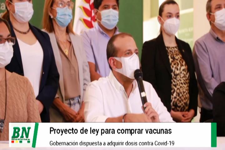 Lee más sobre el artículo Camacho presenta proyecto de Ley corta para que regiones puedan comprar vacunas covd-19