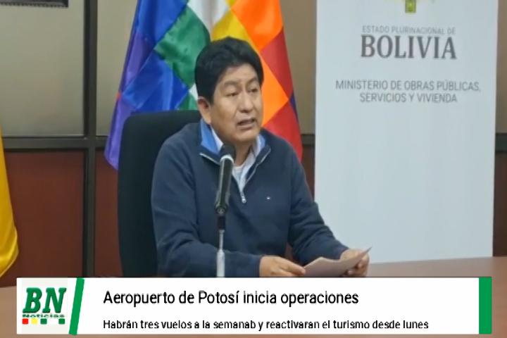 Lee más sobre el artículo Reabren Aeropuerto de Potosí y garantizan tres vuelos semanales y reactivación del turismo
