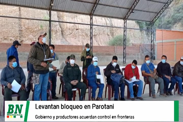 Lee más sobre el artículo Firman acuerdo y pequeños productores levantan bloqueo en Parotani contra contrabando