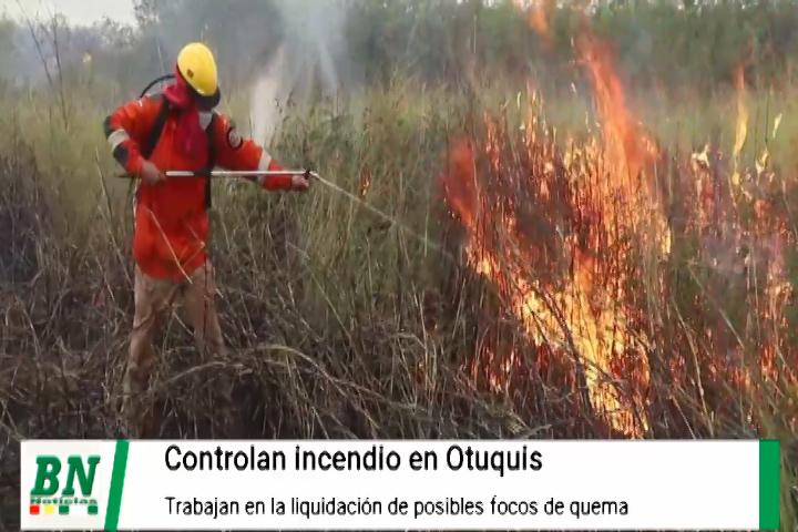 Lee más sobre el artículo Controlan incendio en Otuquis y demandarán a responsables de quema, brigadas trabajan en liquidación