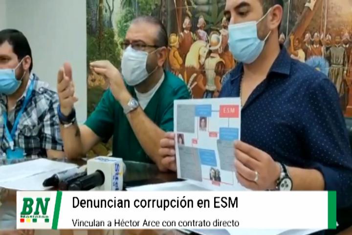 Lee más sobre el artículo Cívicos denuncian corrupción y clan familiar en la ESM y ligan a Hector Arce con contrato directo
