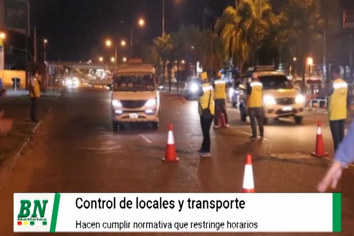 Lee más sobre el artículo Controlan cumplimiento de horarios restringidos en transporte y locales
