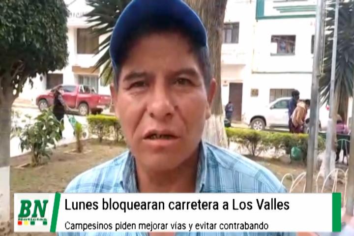 Lee más sobre el artículo Campesinos de Los Valles Cruceños bloquearán carretera pidiendo evitar contrabando y arreglo de vías