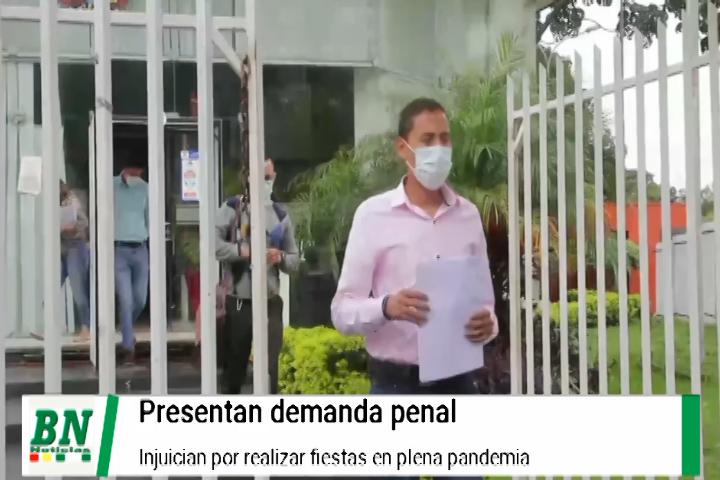 Lee más sobre el artículo Presentan denuncia penal contra quienes realizaron una fiesta en Warnes en pandemia